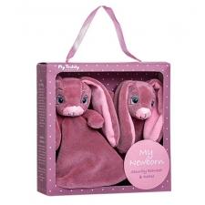 Kinkekarp: kaisutekk ja kõristi, roosa
