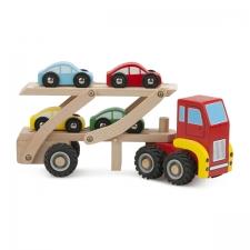 Treiler + neli autot