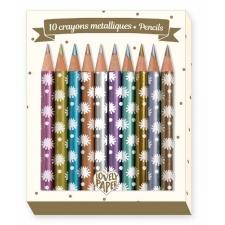 10 Chichi mini metallik-värvipliiatsit