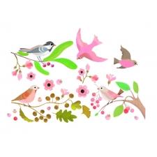 Romantilised linnud - aknakleepsud