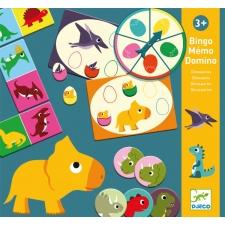 Dinosauruste bingo-memo-doomino